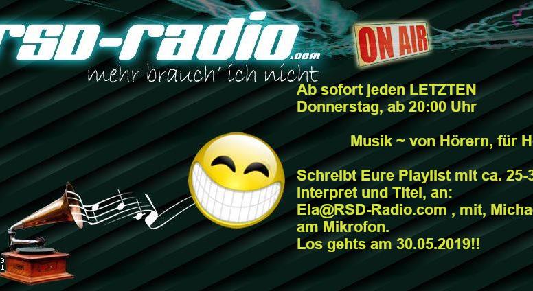 NEU!!! - Bei RSD Radio! - Musik ~ von Hörern für Hörer ~